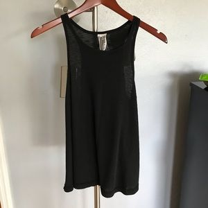 Free People size L black ribbed tank top soft
